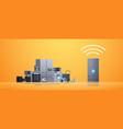 smart home assistant intelligence speaker vector image vector image