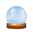 snow globe with winter landscape and snowman vector image