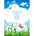 summer sky background vector image vector image