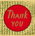 thank you for postcard typography poster banner vector image