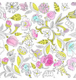 traditional floral ornament vector image vector image