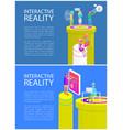 virtual reality text sample vector image vector image