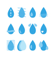 Water drop icons set Aqua Collection of water vector image vector image