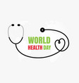 world health day concept medicine and healthcare vector image vector image