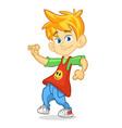 cartoon funny boy dance vector image