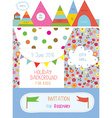 Invitation or banner for kids holiday - cute vector image