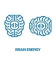 Brain energy sign vector image