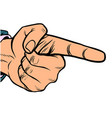 male hand index finger vector image