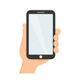 one hand holds smartphone modern style vector image