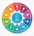 10 foods high in Zinc vector image