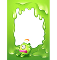 A border with a poisoned green monster vector image vector image