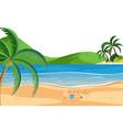 a summer beach scene vector image vector image