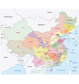 administrative divisions of china map vector image vector image