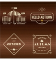 Autumn badges logos and labels for any use vector image