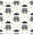 bears umbrella pattern vector image