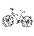 bicycle or bike realistic vector image vector image