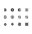 bitcoin icons on white background vector image