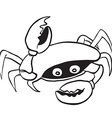 black and white crab vector image