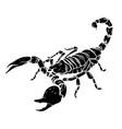black silhouette scorpion tattoo - ornate vector image