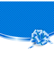 Blue frame with ribbon bow vector