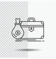 briefcase business case open portfolio line icon vector image