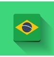 Button with flag of Brazil vector image