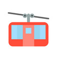 cable car icon amusement park related flat style vector image vector image