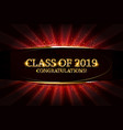 class of 2019 congratulations vector image vector image