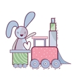 cute rabbit design vector image vector image