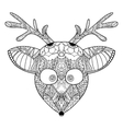 Decorative ornamental reindeer vector image vector image