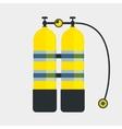 Diving aqualung icon vector image