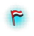 Flag of Egypt icon in comics style vector image vector image
