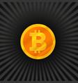 gold bitcoin concept vector image