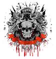 grunge heraldry vector image vector image