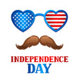 independence day patriotic american vector image