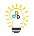 innovate design idea icon flat vector image vector image