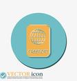 international passport Symbol of travel Icon vector image