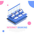 internet banking isometric composition vector image vector image