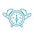 kawaii alarm clock time alert bell hour cartoon vector image vector image