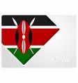 kenyan flag design background vector image
