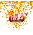 king slots 777 banner casino on white vector image