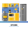 Kitchen Modern Interior Design vector image