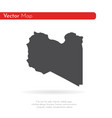 map libya isolated black on vector image vector image