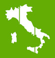 map of italy icon green vector image vector image