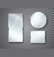 mirrors set isolated with blurry reflection vector image vector image