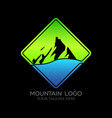 mountain logo design vector image vector image