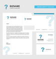 question mark business letterhead envelope and vector image vector image