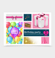 realistic birthday party composition vector image vector image