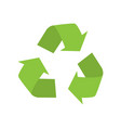 recycle sign on white background vector image vector image