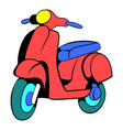red scooter icon cartoon vector image vector image